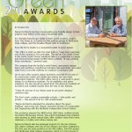 2011 Going Green award