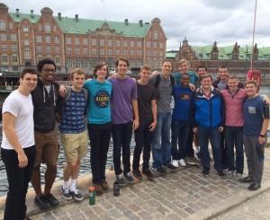 swarthmore bball team at Copenhagen